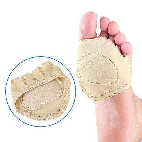 eDealMax 1 paire Invisible Chaussures  Talon du pied Soins infirmiers Pad Coussin Avant-pied Semelles