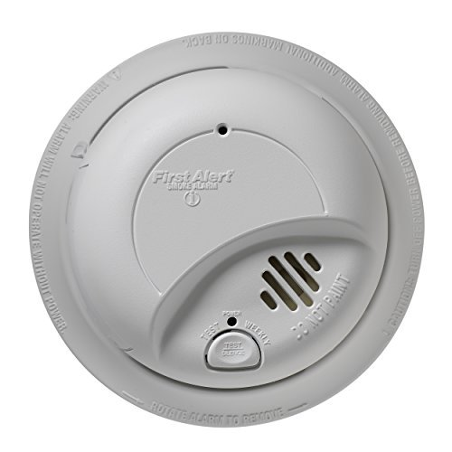 First Alert 9120B6CP 120-Volt Wire-In With Battery Backup Smoke Alarm, 6-Pack (Hardwired Home Security System)