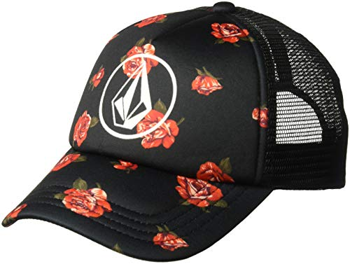 Volcom Big Little Girl's Hey Slims Youth Trucker Hat, Black Combo, One Size Fits All
