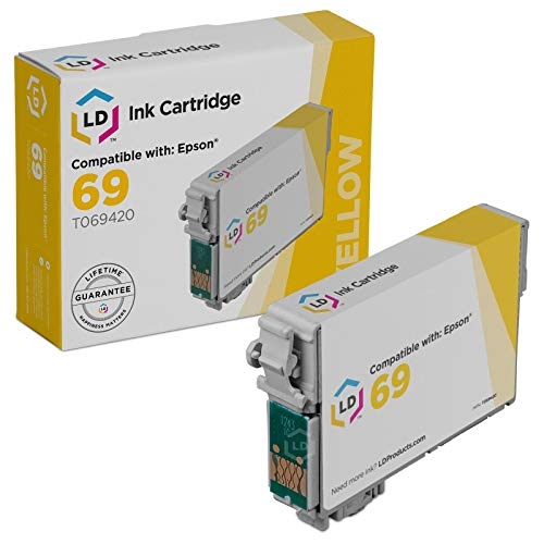 LD Remanufactured Ink Cartridge Replacement for Epson 69 T069420 - Yellow Ink T069420 Epson