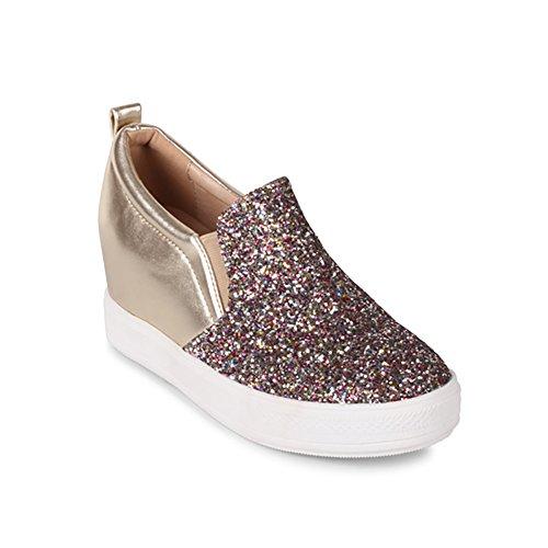 Wilde Schoenen Vrouwen Illuming Wedge Sneaker Met Glitter Meerdere