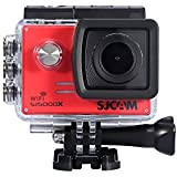 Acouto Action Camera Ultra HD 4K 12M 2 Inch Screen Wifi Sport Cam Adjustable Viewing Angle Underwater 30m with Waterproof Case and More Accessories Kits (red)