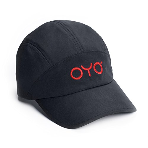 OYO Fitness Sport Cap - Adjustable Fit, Quick Dry, Men Women - Black with Red Logo from OYO Fitness