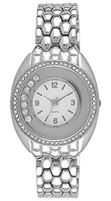 Moulin Ladies Rhinestone Sparkle Watch Silver-tone #18852.76424
