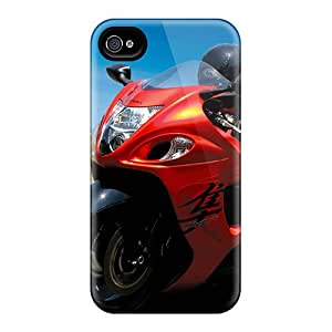 Anti-Scratch Cell-phone Hard Covers For Iphone 4/4s With Customized Lifelike Hayabusa Skin KellyLast