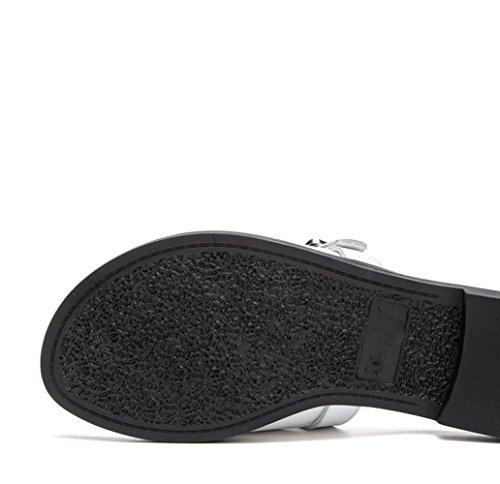Zapatillas Moda Ocasionales Dulces Mujer Sandalias de de Sandalias Planas DHG de S de Punta Sandalias de Color Verano PwqHIcx8