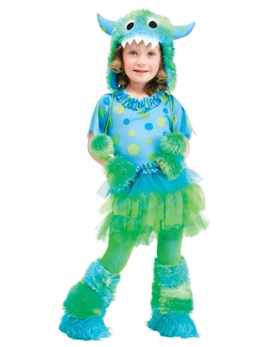 Toddler Rainbow Monster Costumes (Fun World Costumes Baby Girl's Monster Miss Toddler Costume, Blue, Small (24 mos-2T))