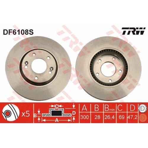 TRW AUTOMOTIVE DF6108S Disco Fr.Singolo Ant.Sonica 05/05->,
