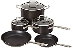 Kitchenaid kch2s08km professional hard anodized nonstick 8 piece cookware set - Kitchenaid aluminum nonstick piece cookware set ...