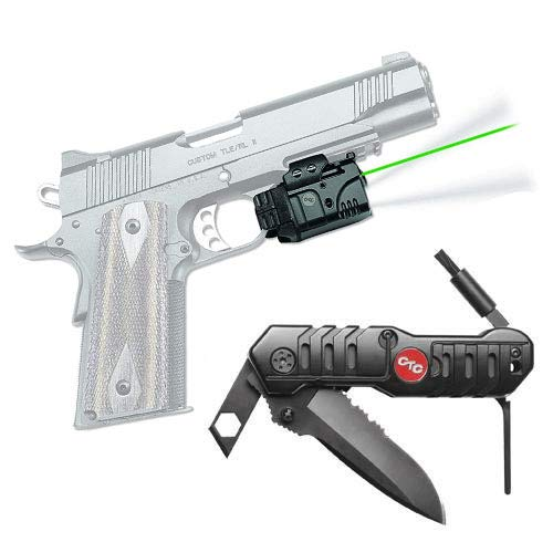 - Crimson Trace Railmaster Pro Universal Green Laser Sight and Tactical Flaishlight & CRKT Picatinny Tool