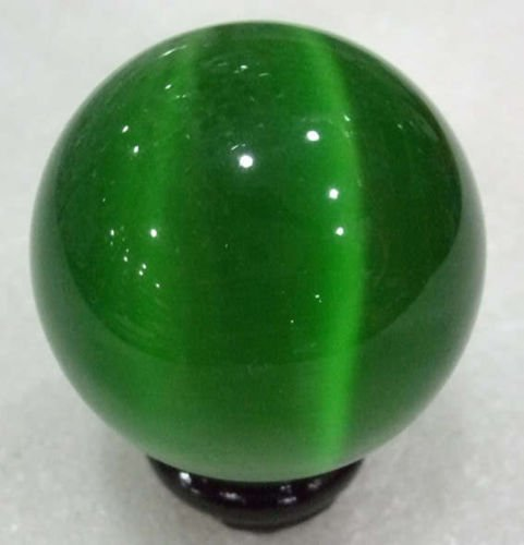 Gozebra(TM) 40mm Green Mexican Opal Sphere,Crystal Ball/Gemstone