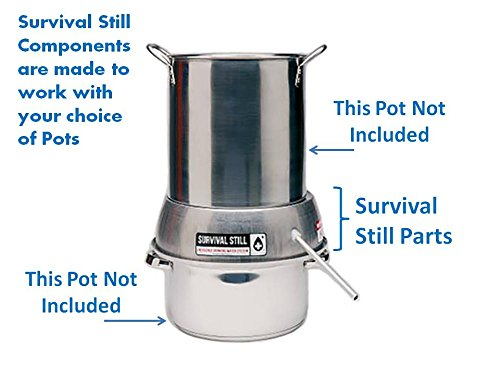 Camping Water Distiller ~ Survival still non electric stainless steel portable water