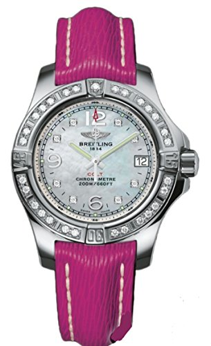 Breitling Colt Lady 33mm Fuschia Strap Ladies Watch Model A7738853/A769/241X