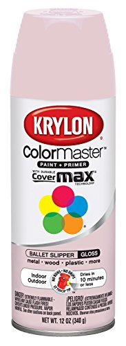 Krylon K05353402 Ballet Slipper Interior and Exterior Decorator Paint - 12 oz. Aerosol (Paint For Wicker Furniture For Outdoor)