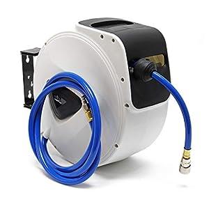 Tambor manguera aire comprimido rodillo carrete automático 15m enrollador compresor aire presión