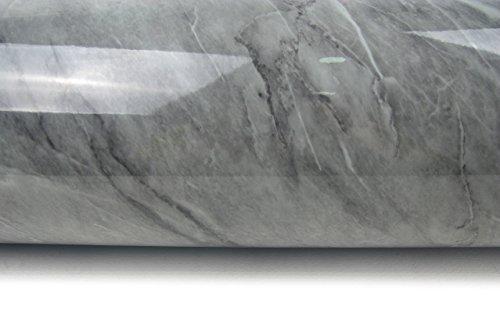 Granite Look Marble Effect Contact Paper Film Vinyl Self Adhesive Peel-stick Counter Top (Deep Gray Marble VBS705-3G(9.8ft))