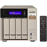 Qnap TVS-473-8G-US 4-bay NAS/iSCSI IP-SAN, AMD R series Quad-core 2.1GHz, 8GB RAM, 10G-ready