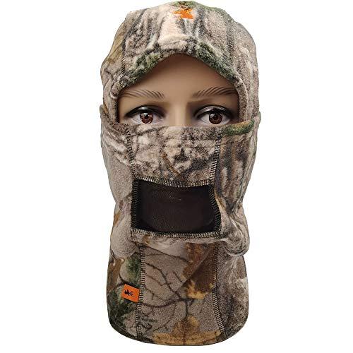 SPIKA Camo Fleece Balaclava Hunting Hood Headwear Military Tactical Helmet Full Face Mask