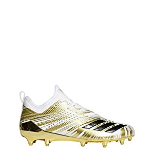 adidas 5Star 7.0 Metallic Cleat Men's Football 10.5 Gold Metallic-Core Black-White
