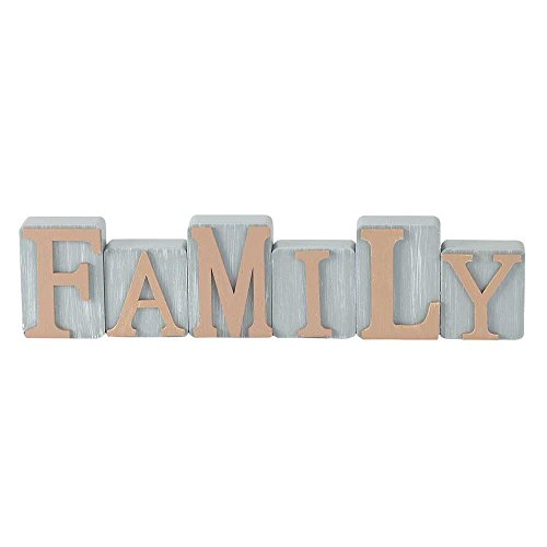 Family Milk Paint Gray Milk Paint Gray 2.4 x 10 Wood Table Top Sign Plaque