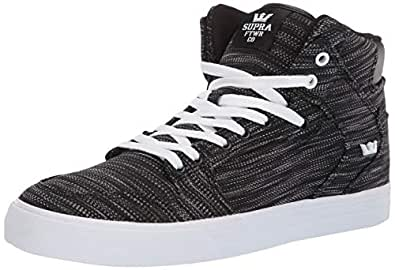 Supra Unisex-Adult Skateboarding-Shoes, Multi/Black-White, 8.5 M US Women/7 M US Men