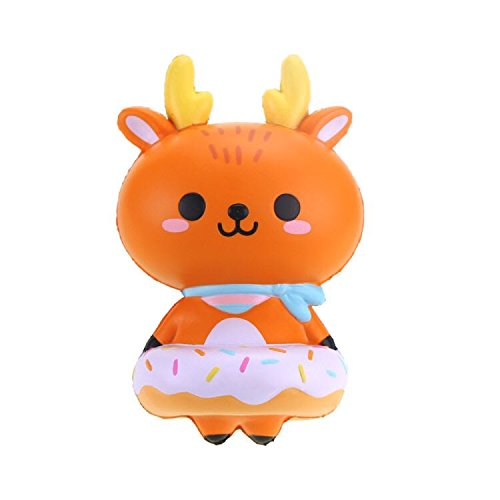 Squsihies Stress Toys Squishy Slow Rising Stress Scented Deer Donut 6.3