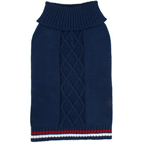 - Cable Sweater Medium 15-16.5-Navy