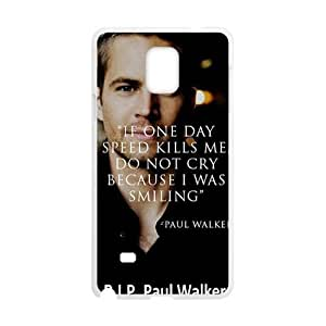 Paul Walker Fashion Comstom Plastic case cover For Samsung Galaxy Note4