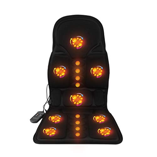 Simoner Heated Massage Seat Cushion, Comfortable Cars Chair Vibrating Massaging Seat Pad for Full Body Back Neck Lumbar Massager Relaxation