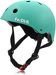 Skateboard Helmet Adjustable, Bike Helmet Kids Youth Adult CPSC Certified, for Skate Skateboarding Longboard S