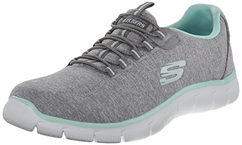 Skechers Women's Sport Empire - Rock Around Relaxed Fit Fashion Sneaker, Grey...