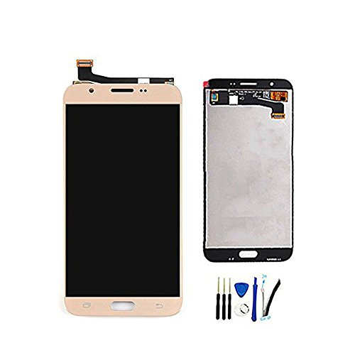 Full LCD Display With Digitizer Touch Screen For Galaxy J7 Prime 2017 SM-J727T1 & J7 2017 SM-J727 J727R4 J727V J727P SM-J727A & J7 Sky Pro & J7 Perx Assembly Replacement Gold