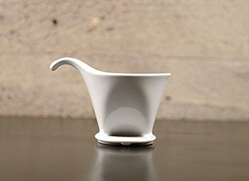 418tOgHANDL - Bee House Ceramic Coffee Dripper - Large - Drip Cone Brewer (White)