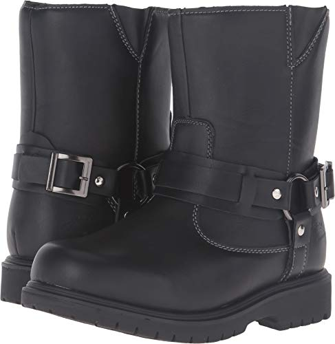 Deer Stags Boys' Curb Pull-On Boot, Black, 2 M US Little Kid -