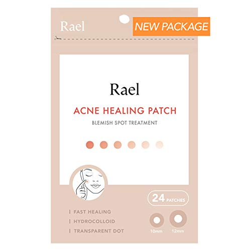 Rael Acne Pimple Healing Patch - Absorbing Cover, Invisible, Blemish Spot, Hydrocolloid, Skin Treatment, Facial Stickers, Two Sizes, Blends in with skin (24 Patches, 1Pack) (Best Makeup To Cover Acne Scabs)