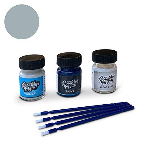 ScratchesHappen Exact-Match Touch Up Paint Kit Compatible with Mercedes-Benz Cote D`Azur Blue Bright (385) - Preferred