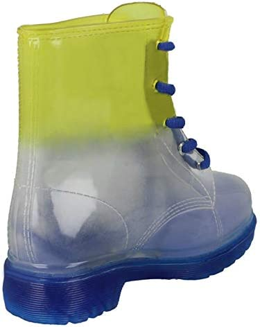 Ladies Spot On Gradiant Transparent Welly Boot