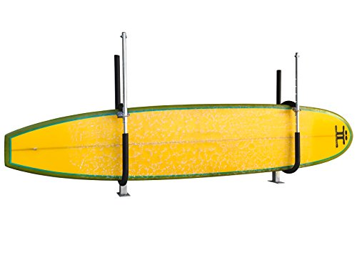 Premium Locking Outdoor Paddleboard Rack by Gatekeeper | Free-standing Boat Dock and Deck Base Mount Holds | Rugged Anti-Theft & Robust Weather Protection by Gatekeeper Surf Racks