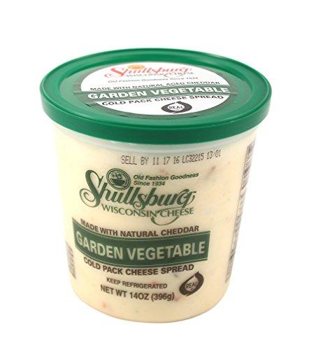 Shullsburg Creamery - Garden Vegetable Cold Pack Cheese Spread - 14 oz. (Cheese Vegetable Spread)