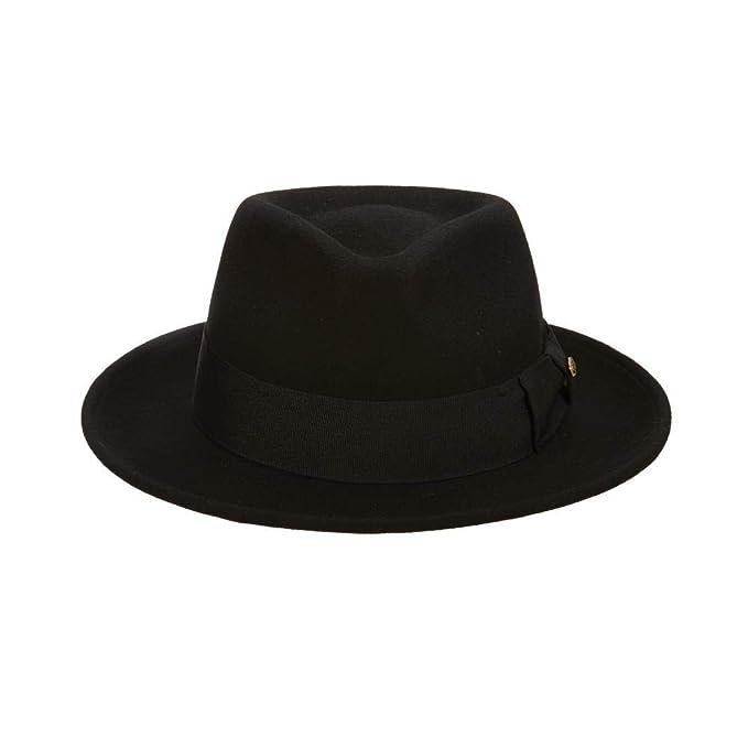8f89c00bc4014 Scala Classico Men s Crushable Wool Felt Fedora at Amazon Men s Clothing  store