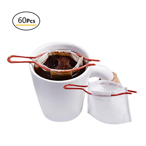 Disposable coffee filter tea filter disposable coffee filter with hanging ear drip filter bracket portable coffee paper filter outdoor travel home office by Meetall