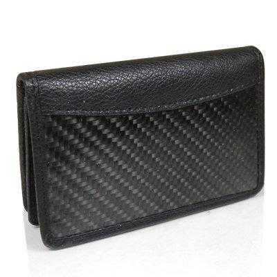Genuine Black Carbon Fiber Credit Card Wallet