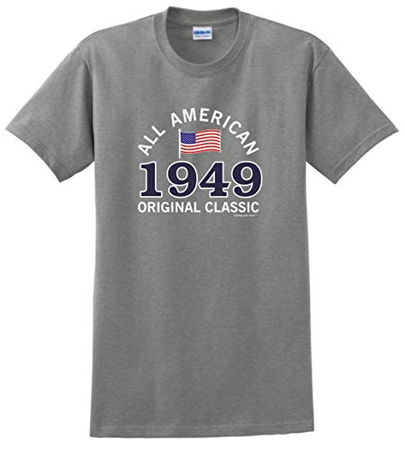 Birthday Gifts For All 70th Birthday Gift Ideas 70th 1949 All American T-Shirt 2XL SpGry Sport Grey -