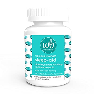 Wellness Basics Maximum Strength Sleep-Aid Diphenhydramine Softgel