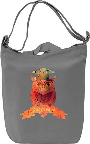Knowledge Borsa Giornaliera Canvas Canvas Day Bag| 100% Premium Cotton Canvas| DTG Printing|