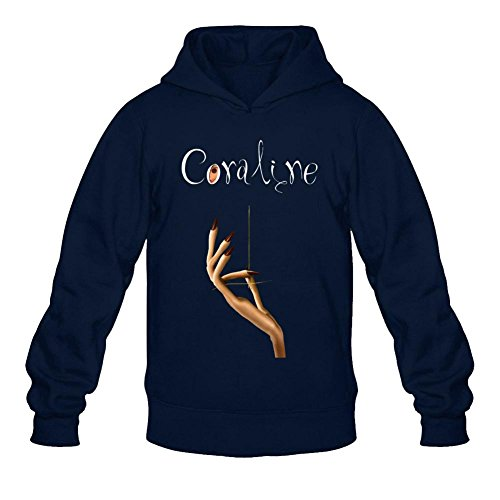 Coraline Stop motion animation Logo Long Sleeve Sweatshirts Hoodie Men's Tommery M Animation Mens Watch
