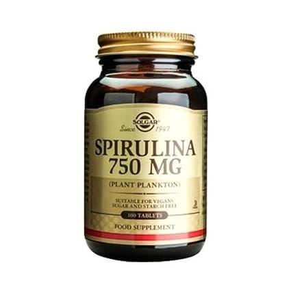 Espirulina 100 comprimidos de 750 mg de Solgar