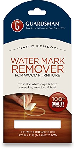 Guardsman Water Mark Remover Cloth - Erase White Rings & Haze Caused By Moisture and Heat - Reusable - (Metal Wood Finish Table)