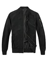 MADHERO Men's Bomber Jacket Lightweight Outerwear Casual Camo Jacket