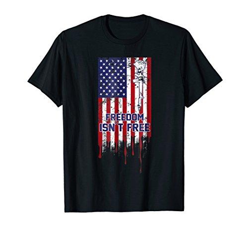 Patriotic Military American Flag Memorial Day T-Shirt